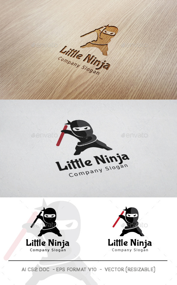 GraphicRiver Little Ninja Logo 11311616