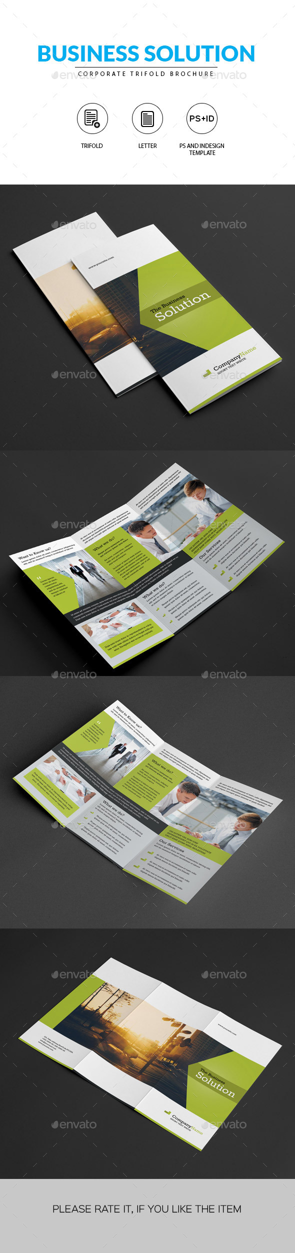 GraphicRiver Clean Corporate Trifold Brochure 11311647