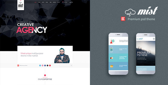 Mist-One Page Multipurpose Creative Template