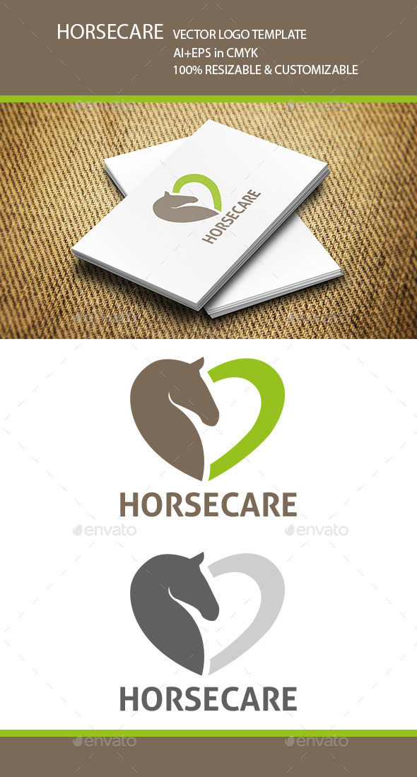 GraphicRiver Horse Care Logo Template 11312126