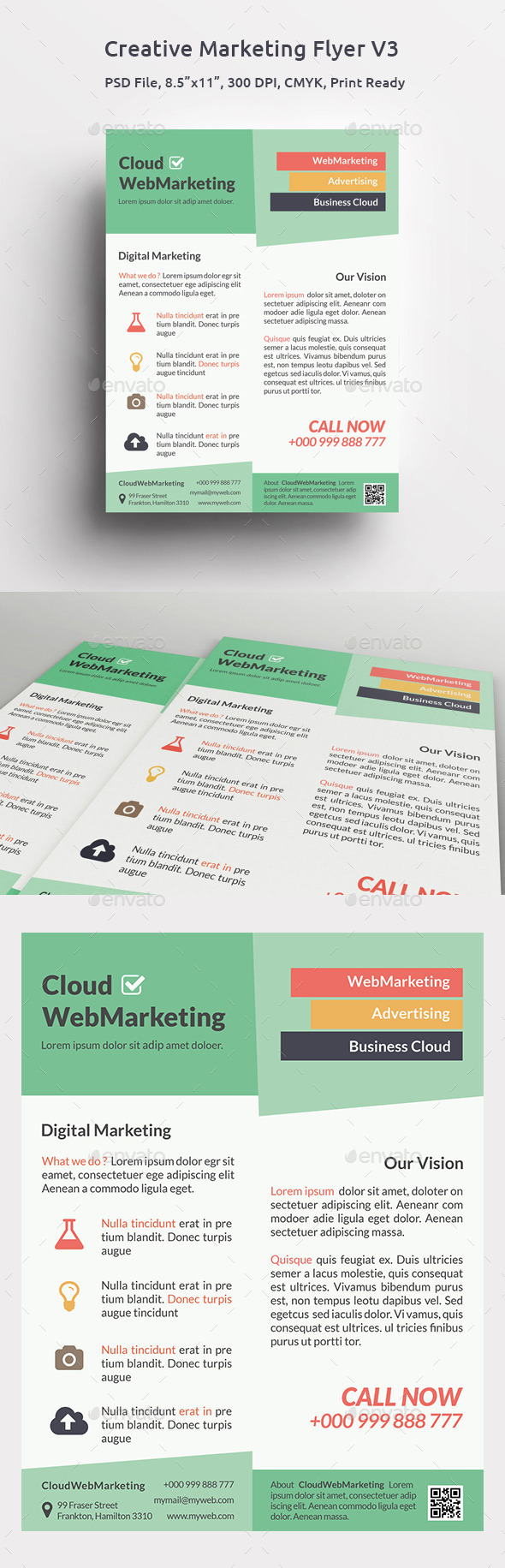 GraphicRiver Creative Marketing Flyer V3 11312160