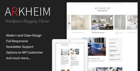 ThemeForest Arkheim WordPress Blog Theme 10723485