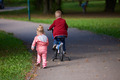boy and girl with bicycle - PhotoDune Item for Sale