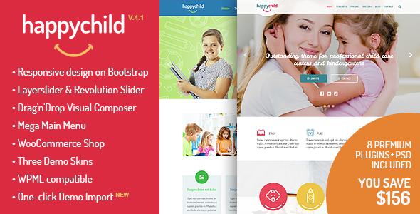 HappyChild - Kindergarten WordPress Theme - Education WordPress