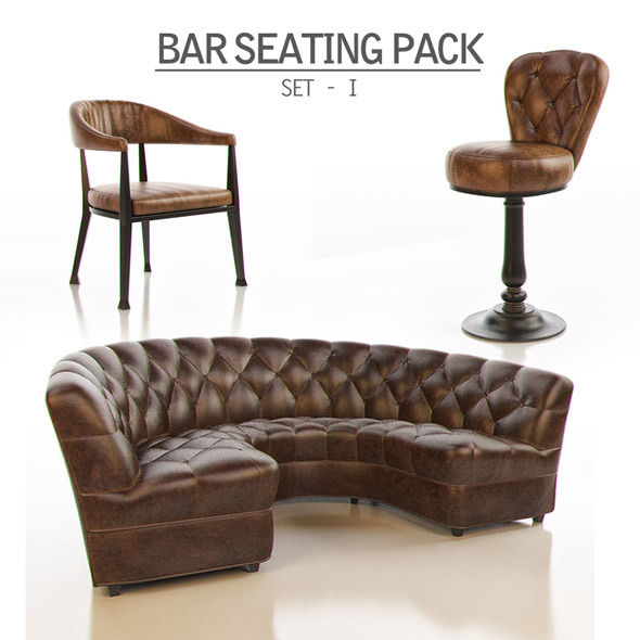Bar Seating Pack - Set I - 3DOcean Item for Sale