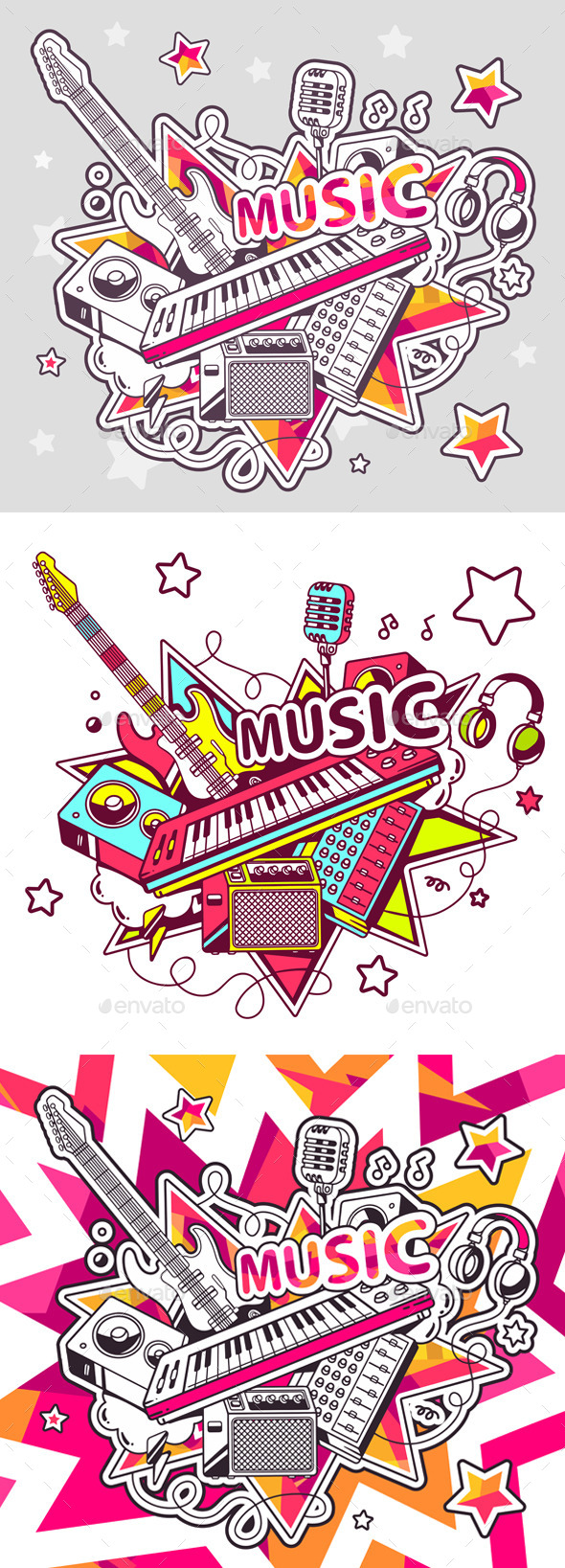 GraphicRiver Set of Musical Instruments 11312563