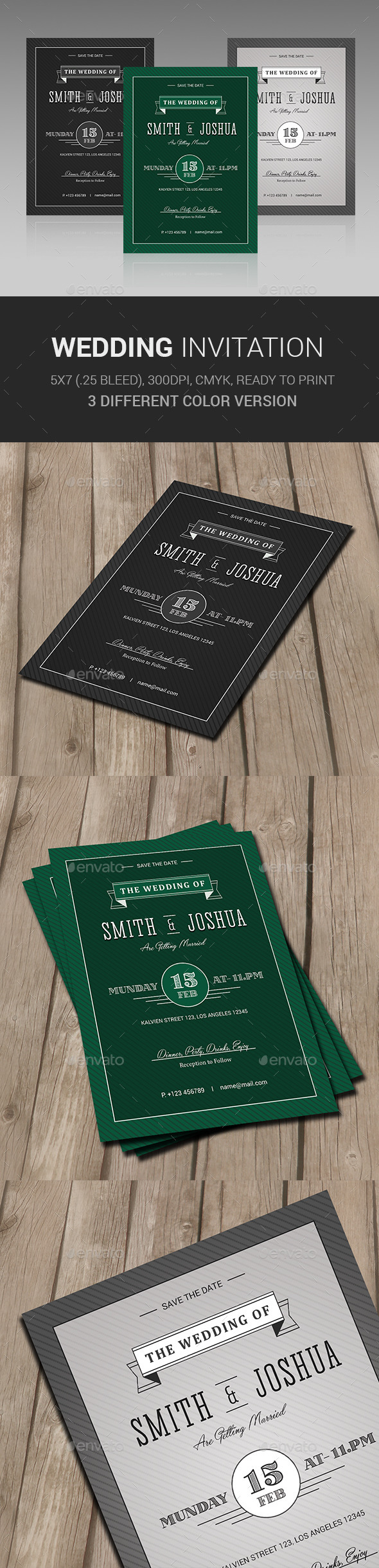 GraphicRiver Wedding Invitation 11312571