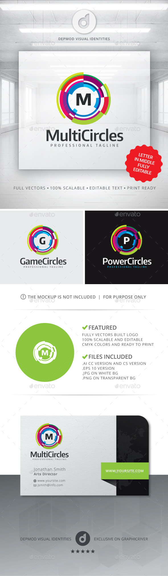 GraphicRiver Multi Circles Logo 11312804