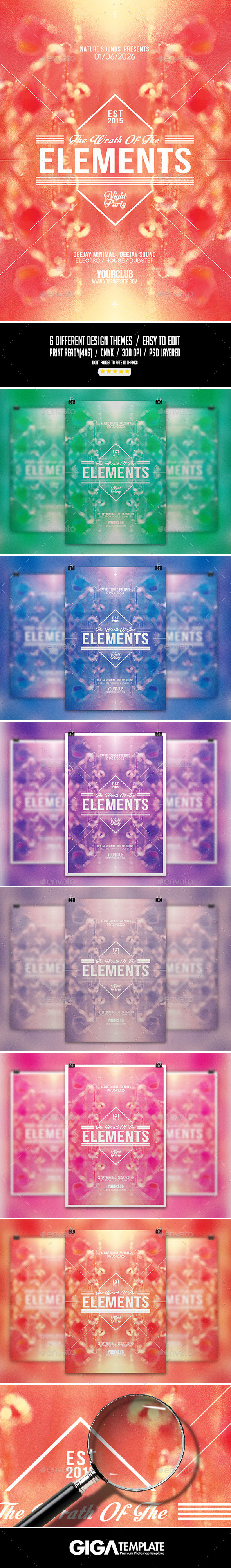 GraphicRiver The Elements Abstract Minimal Flyer PSD Template 11313281