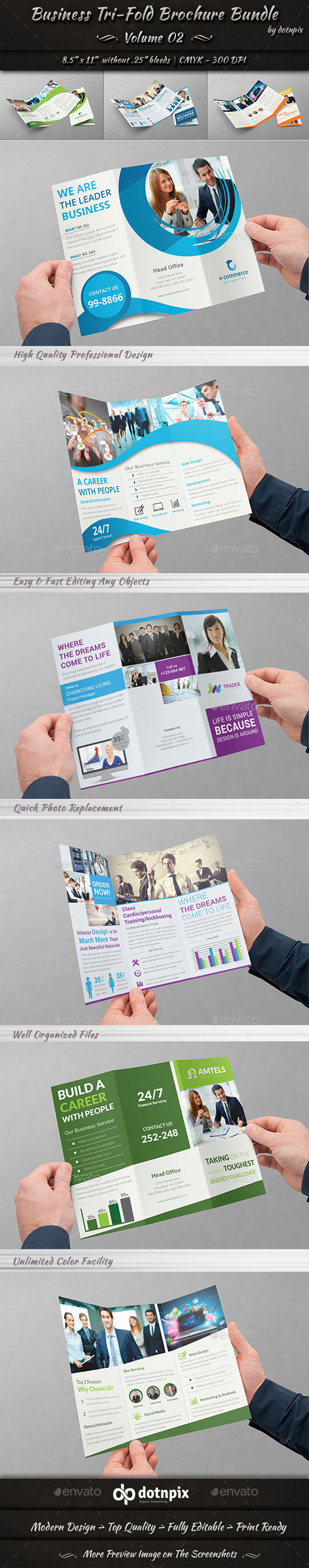 GraphicRiver Business Tri-Fold Brochure Bundle Volume 2 11313334