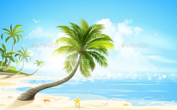 GraphicRiver Tropical Beach 11313602