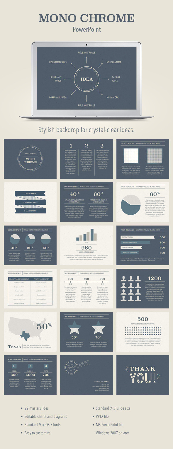 GraphicRiver Mono Chrome PowerPoint Template 11313605