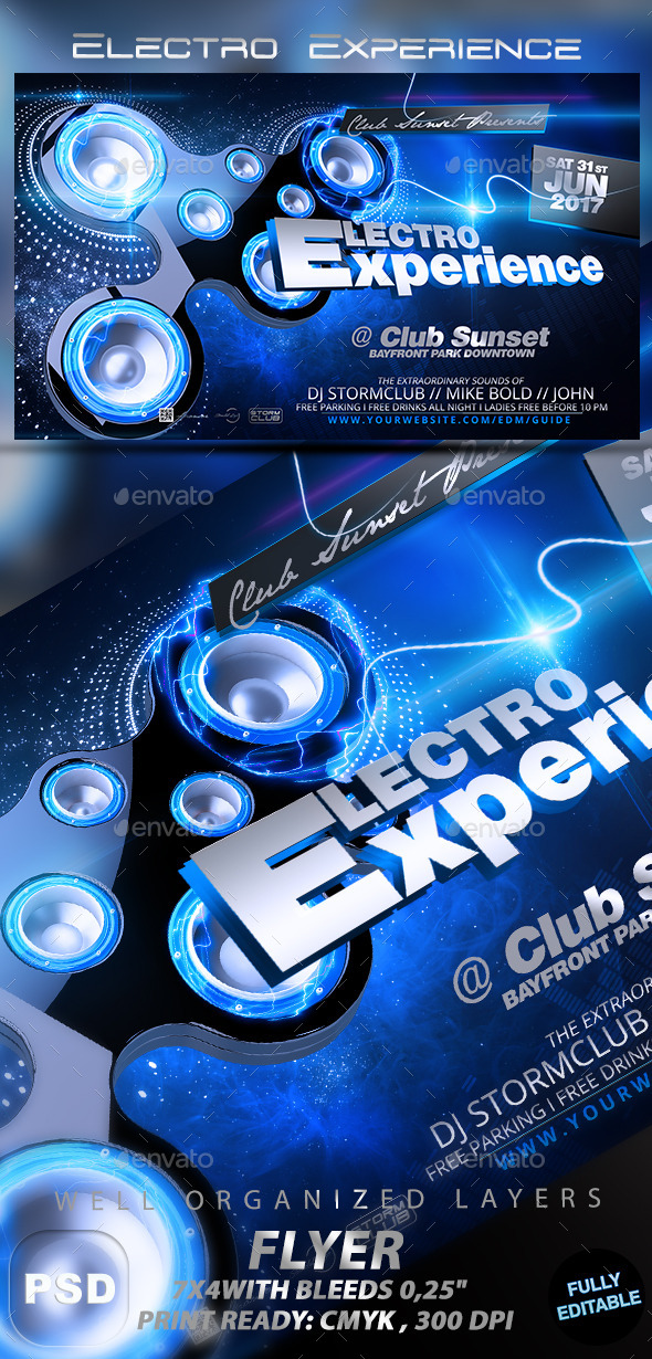 GraphicRiver Electro Experience 11313620