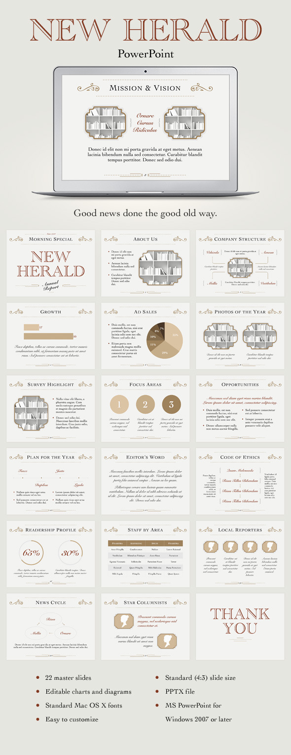 GraphicRiver New Herald PowerPoint Template 11313638