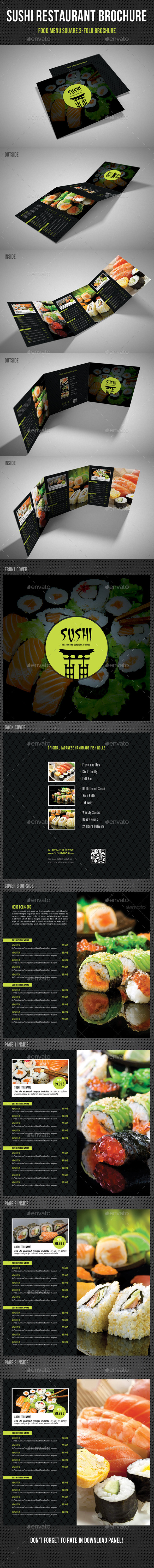 GraphicRiver Sushi Restaurant Menu Square 3-Fold Brochure 02 11313833