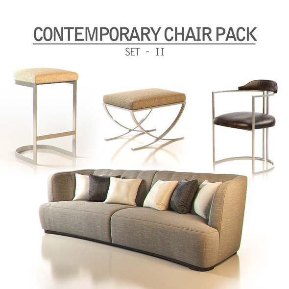 3DOcean Contemporary Chair Pack Set II 11313836