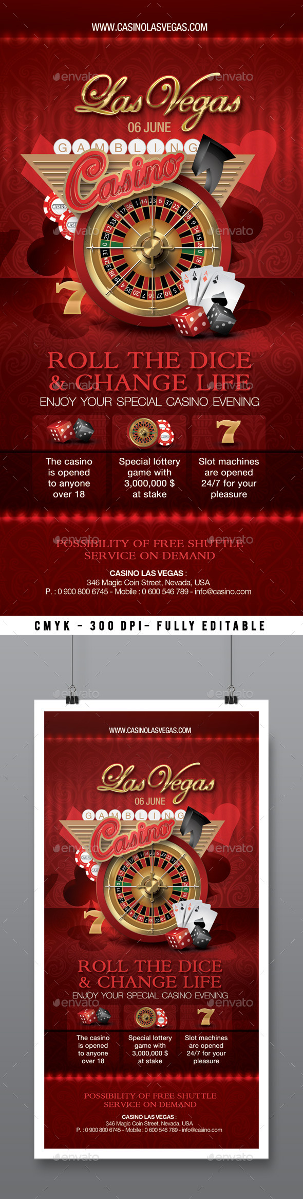 GraphicRiver Casino Flyer 11313852