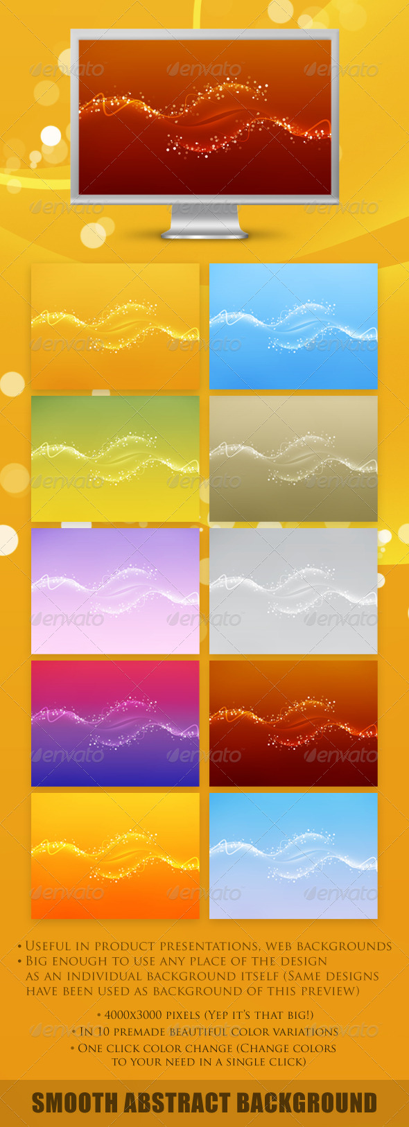 Smooth Abstract Background - Abstract Backgrounds