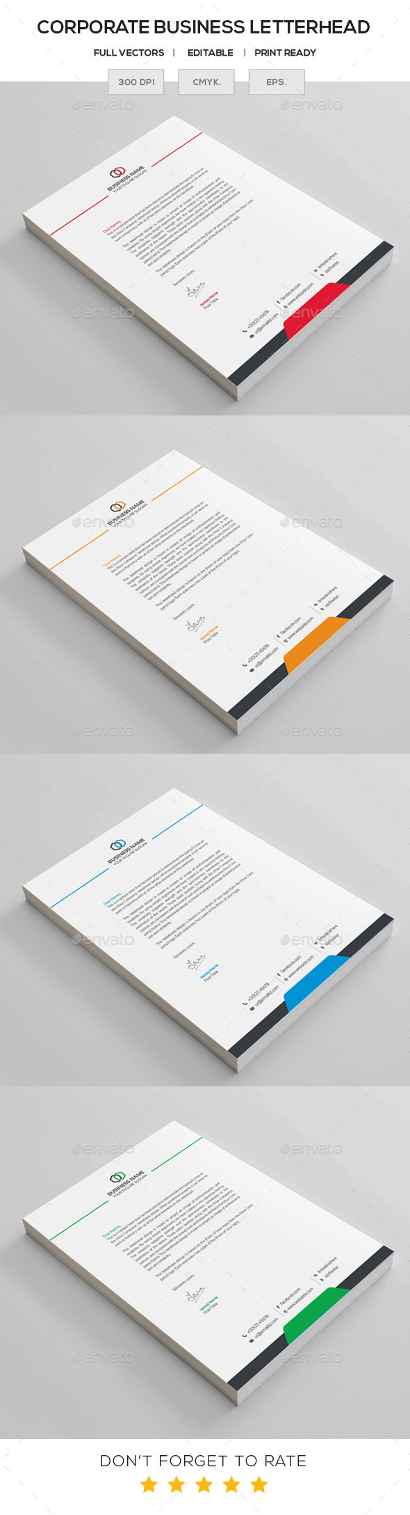 GraphicRiver Business Letterhead 11313969