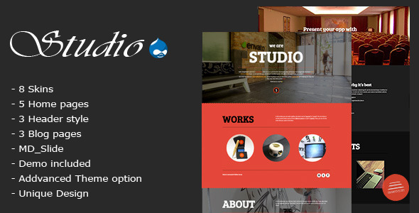 ThemeForest Studio Multipurpose Technology Drupal Theme 11314083