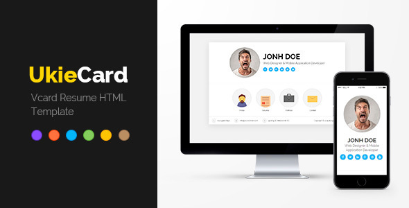 Ukiecard  Personal Vcard  Resume Html Template Virtual Business