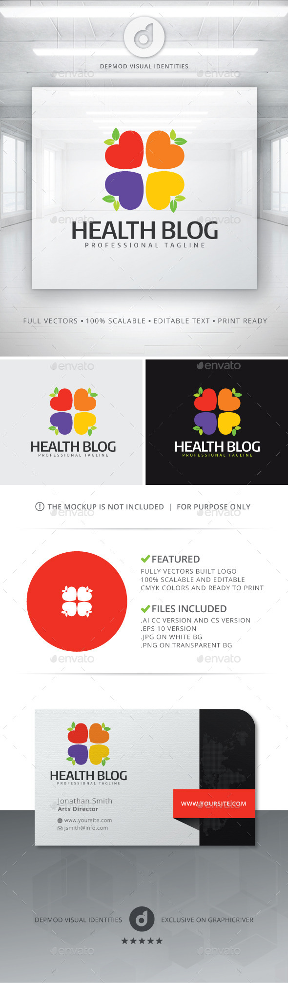 GraphicRiver Health Blog Logo 11314445
