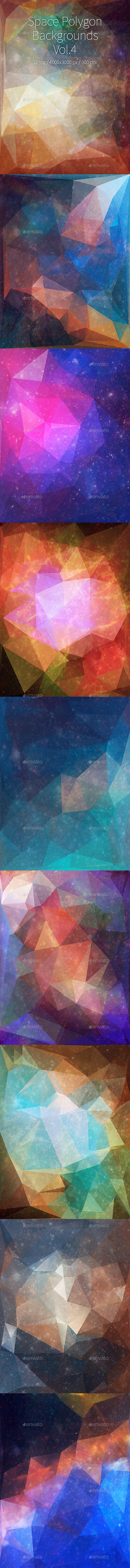 GraphicRiver Space Polygon Backgrounds Vol.4 11314472