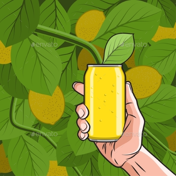 GraphicRiver Lemon Drink in Hand 11314498