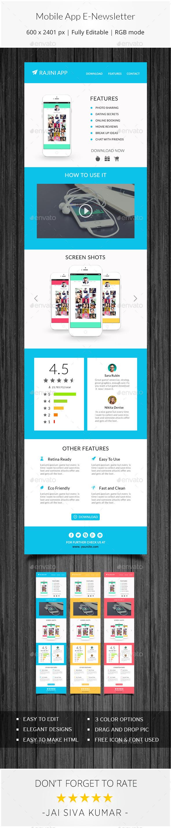 GraphicRiver Mobile App Email Template 11314617