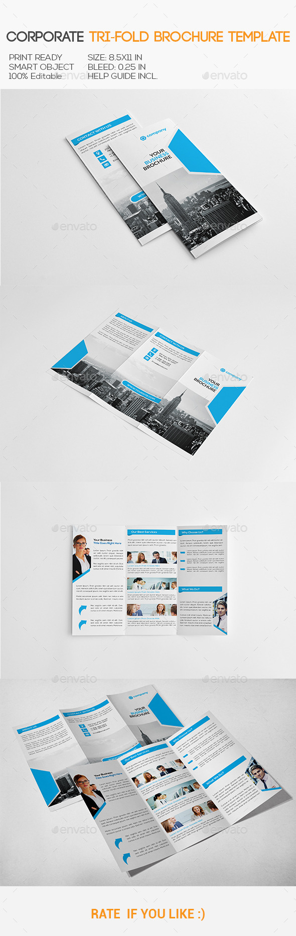 GraphicRiver Corporate Trifold Brochure 11314647