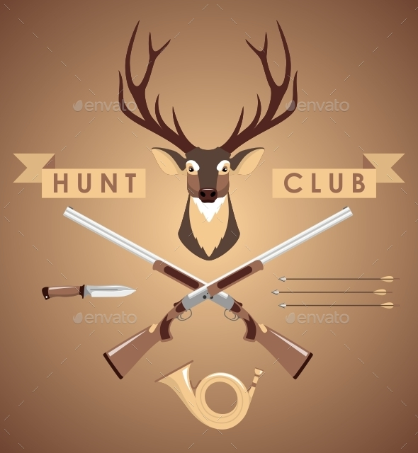 GraphicRiver Set of Hunting Design Elements 11314669