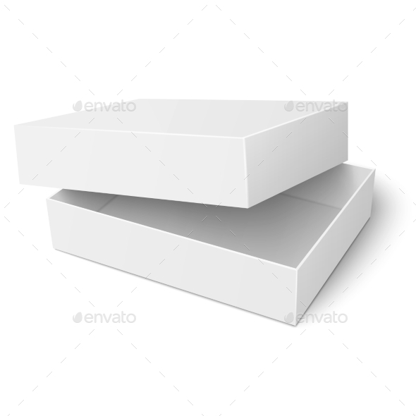 GraphicRiver Template of White Cardboard Box with Opened Lid 11315063