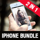 Realistic Phone 5s Mockup Bundle 2 in 1 - GraphicRiver Item for Sale