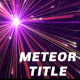 Meteor Title - VideoHive Item for Sale
