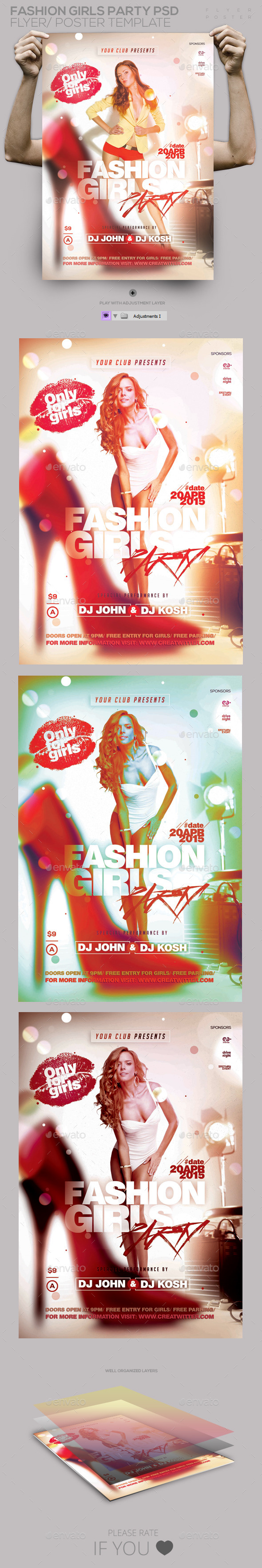 GraphicRiver Fashion Girls PSD Template Flyer Poster 11315438