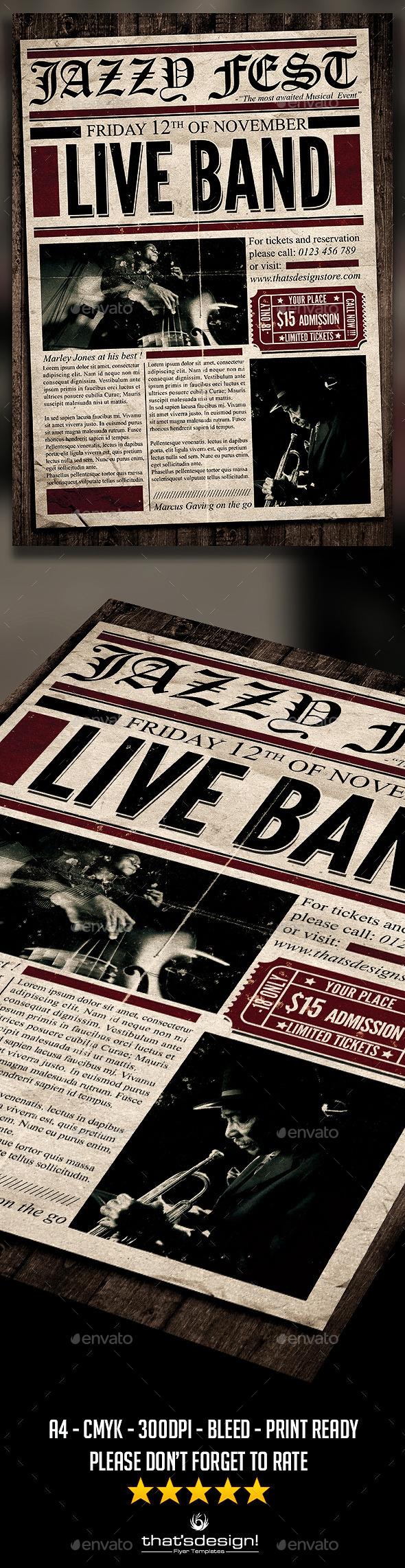 GraphicRiver Live Concert Flyer Poster V5 11315569