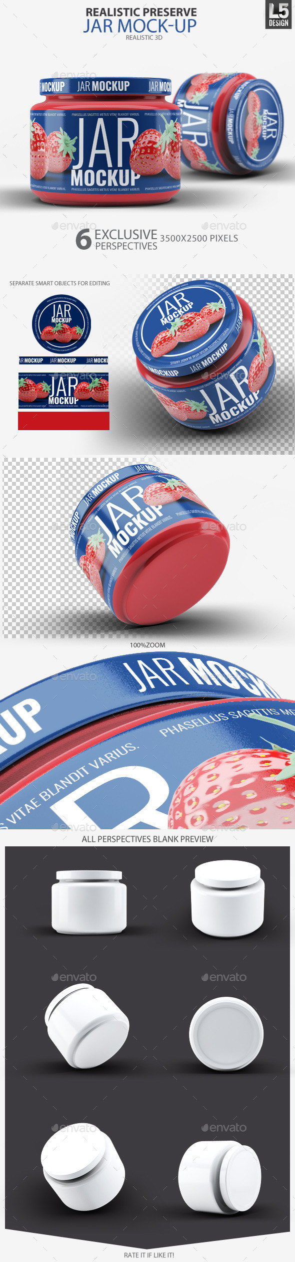 GraphicRiver Realistic Preserve Jar Mock-Up 11315587