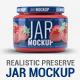 Realistic Preserve Jar Mock-Up - GraphicRiver Item for Sale
