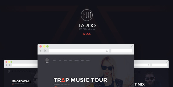ThemeForest TARDO DJ & Producer Bootstrap Template 11258318