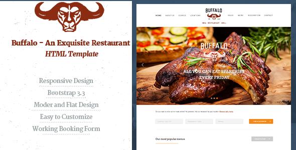 Buffalo - An Exquisite Restaurant HTML Template