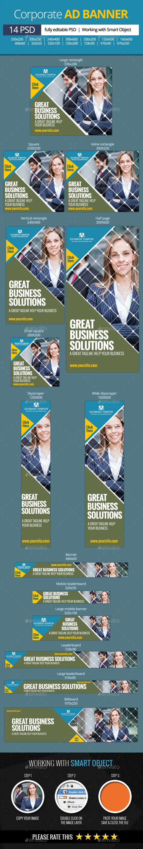 GraphicRiver Corporate and Business web banners 11315917