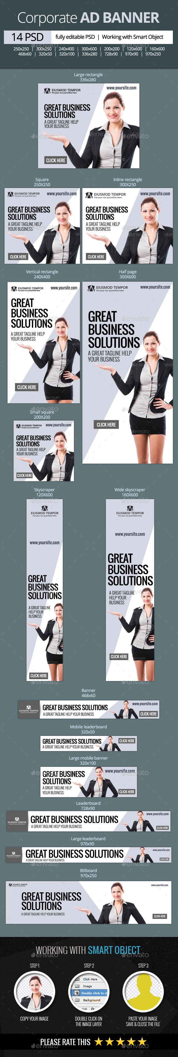 GraphicRiver Corporate and Business web banners 11315959
