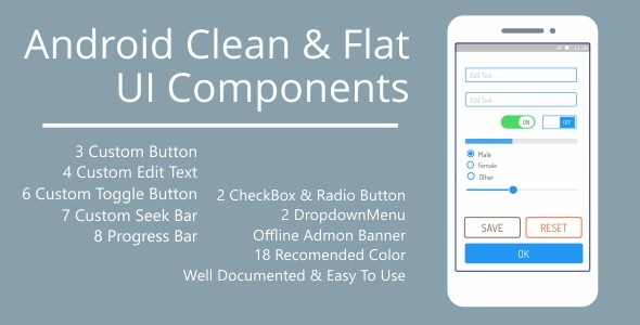 CodeCanyon Android Clean & Flat UI Components 11316073