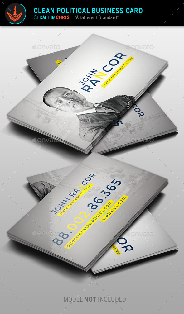 GraphicRiver Clean Political Business Card Template 11316074
