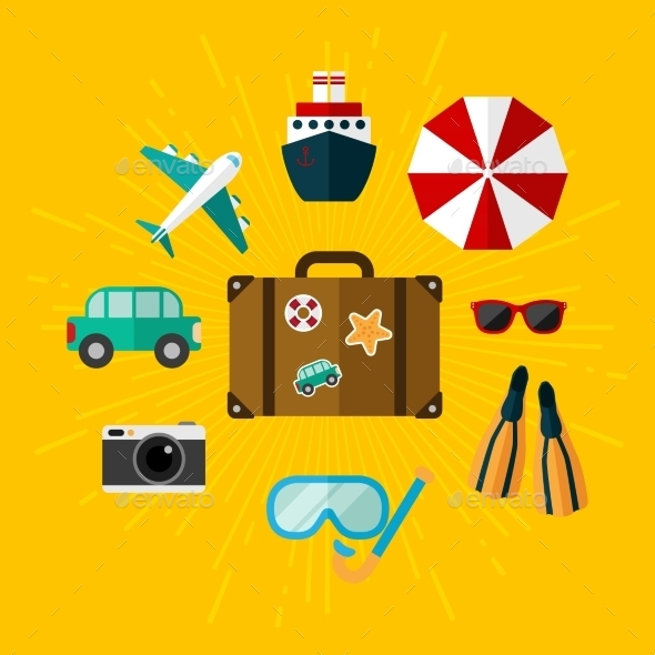 GraphicRiver Set of Illustrations on Vacation 11316144