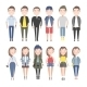 Girls and Boys in Casual Clothes Set - GraphicRiver Item for Sale