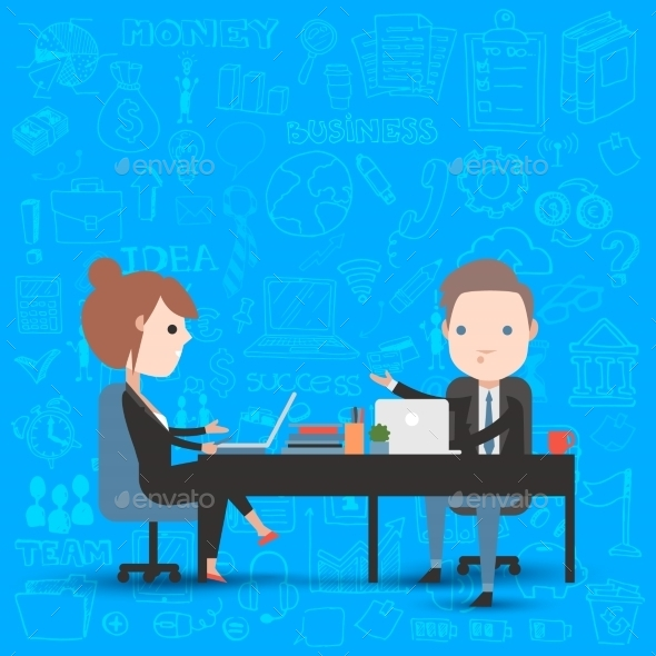 GraphicRiver People at Work in the Office 11316158