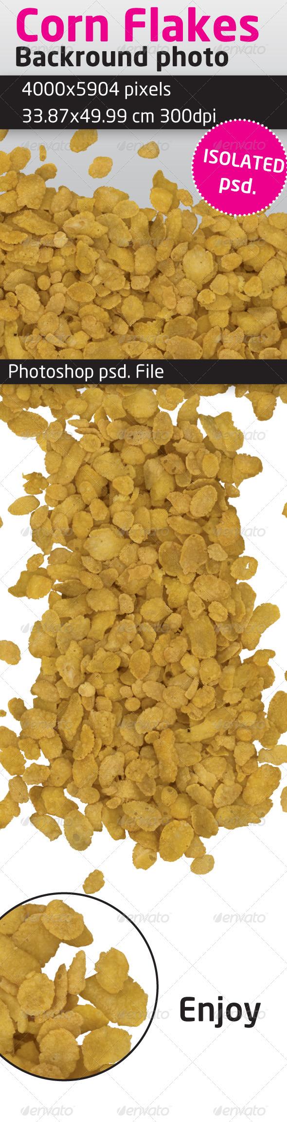 Corn Flakes Isolated Backround