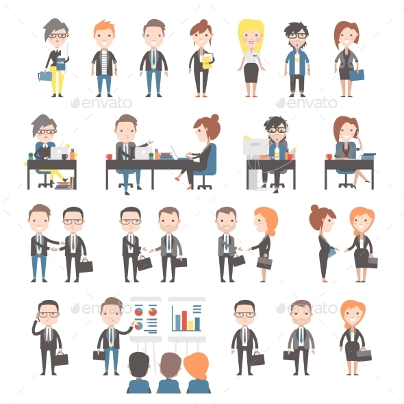 GraphicRiver Group of Business and Office People 11316208