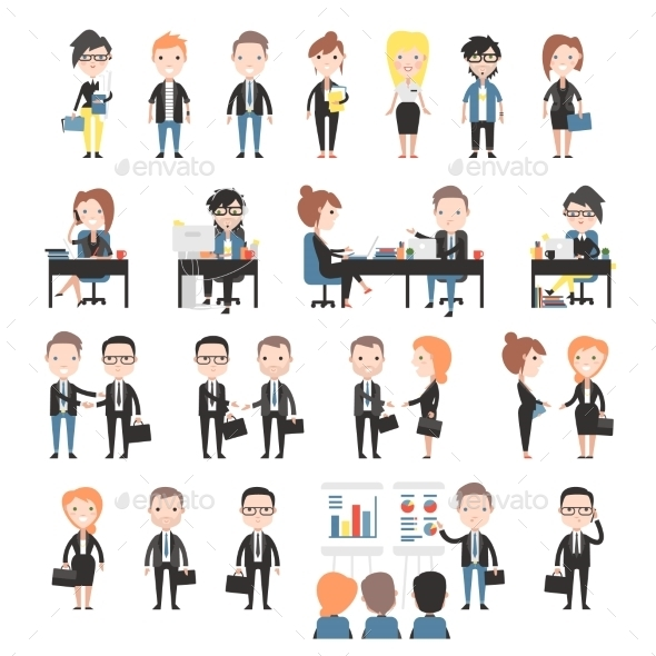 GraphicRiver Group of Business and Office People 11316210